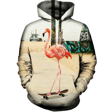 Image of Venice Beach Flamingo Womens Hoodie