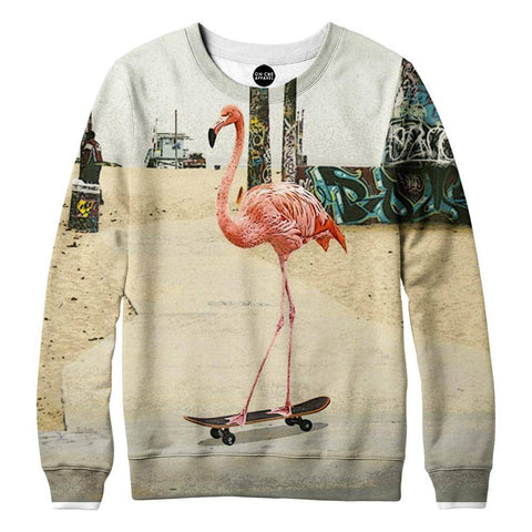 Venice Beach Flamingo Womens Sweatshirt