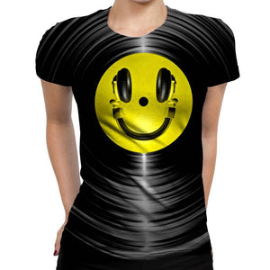 Headphone Womens T-Shirt
