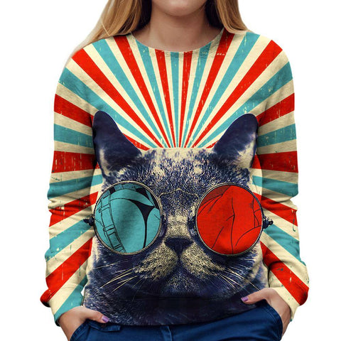 Cat Womens Sweatshirt