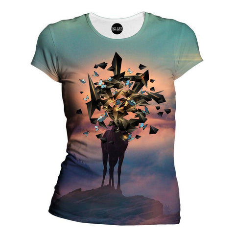 Image of Deer Shapes Womens T-Shirt