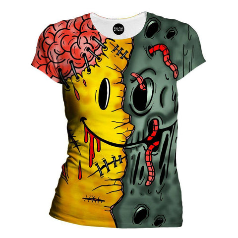 Image of Emoji Zombie Womens T-Shirt