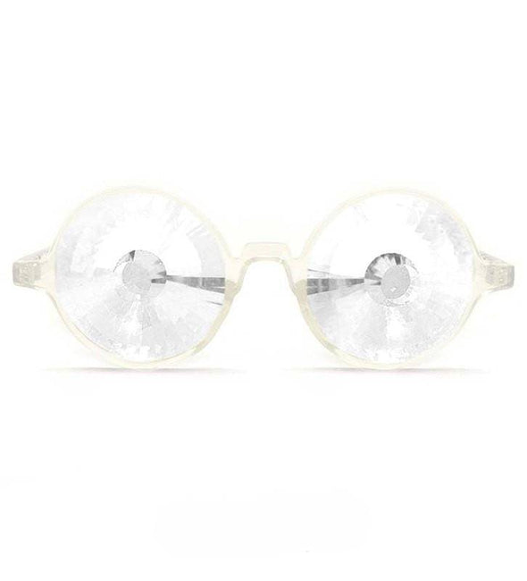GloFX Clear Kaleidoscope Glasses- Clear Wormhole