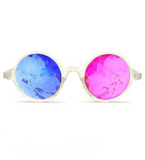 GloFX Clear 3D Kaleidoscope Glasses- Sapphire & Magenta