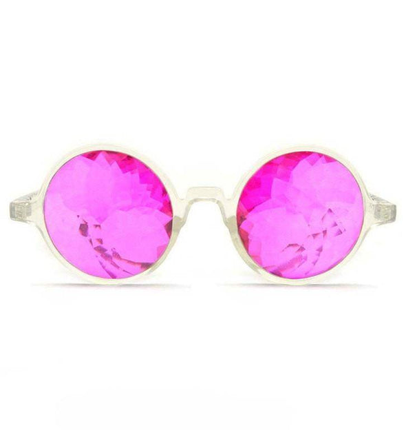GloFX Clear Kaleidoscope Glasses- Magenta