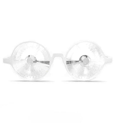 GloFX White Kaleidoscope Glasses- Clear Wormhole