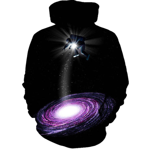 Image of Purple-Astro Womens Hoodie