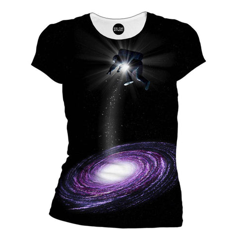 Purple-Astro Womens T-Shirt