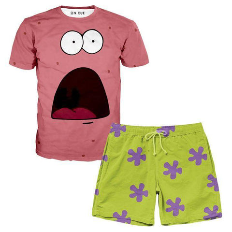 Image of Patrick T-Shirt And Shorts Rave Outfit