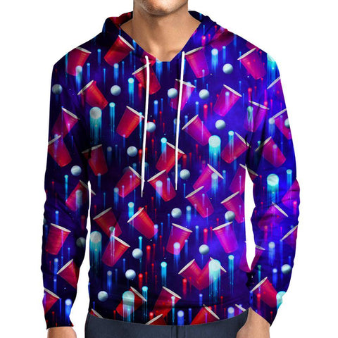 Image of Beer Pong Red White And Blue Hoodie