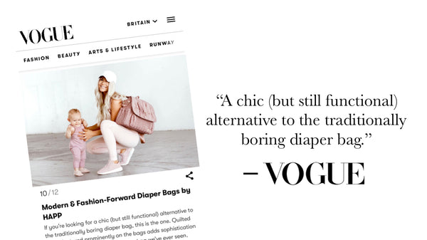 "Vogue, ""Modern & Fashion-Forward Diaper Bags"""