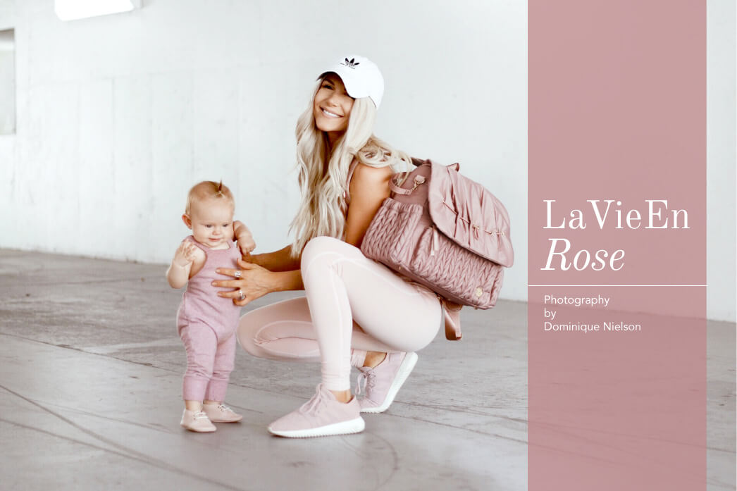 blush diaper bag for girls lookbook