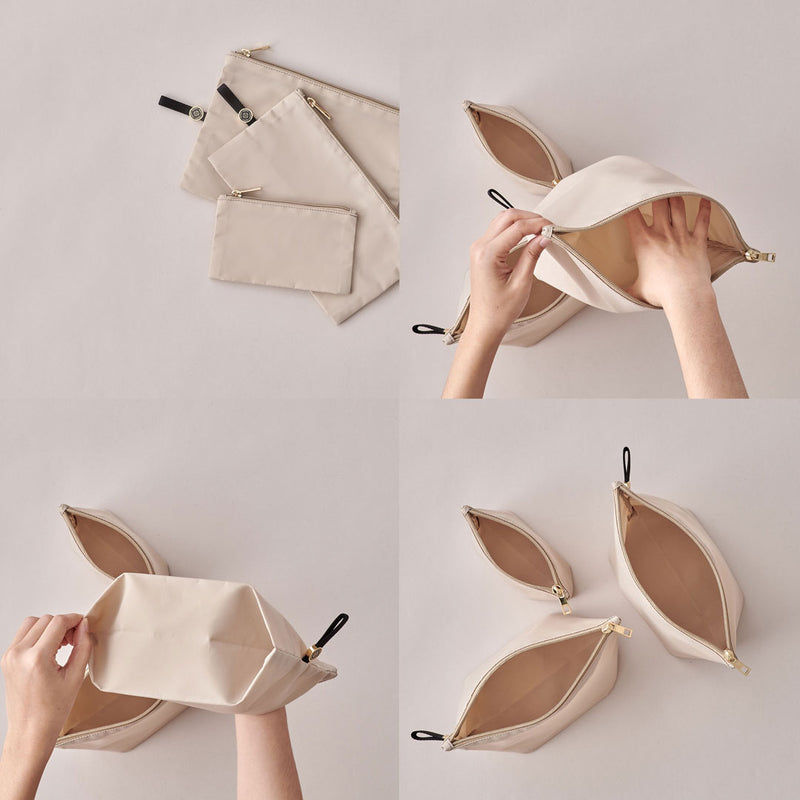 Expandable Packing Pouches Beige