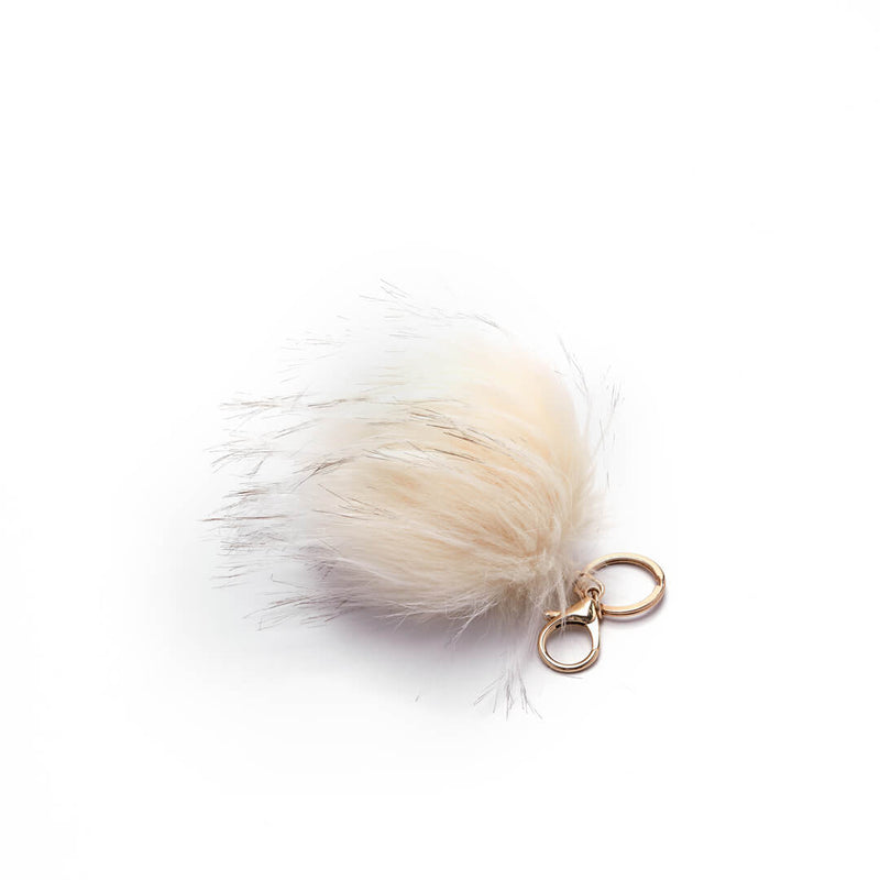 Faux Fur Pouf Bag Charm