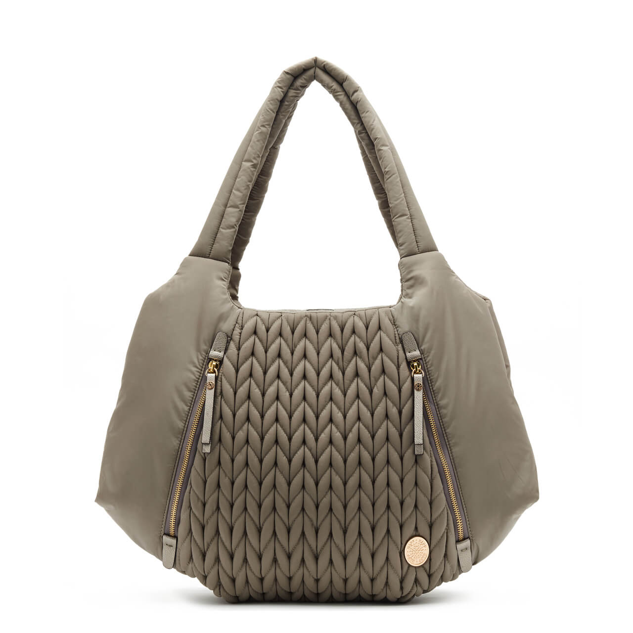 best designer grey stylish diaper bag purse