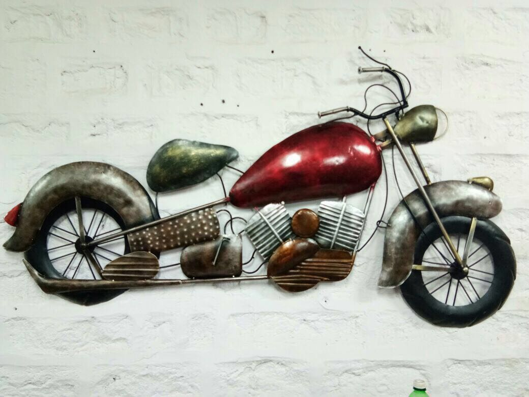 Motorcycle wall art
