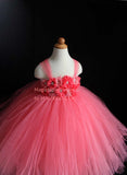 Coral Flower Girl Tutu Dress Tulle Dress Wedding Dress Toddler Dress Magictullecouture