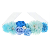 Blue Maternity Pregnancy Sash Baby Shower Gift Photo Prop Girls Bridal Rhinestone Belt