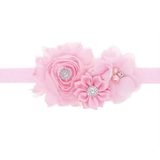 20 Colors, Buy 2 Get 1 Free, Floral Headpiece Head Wrap With Pearl For Flower Girls and Newborn Girl Photography