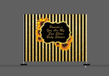 Custom Baby Shower Birthday Party Backdrop Decoration Pink Stripes Sunflower Backdrop