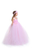 Lt. Pink Flower Girl Tutu Dress with Matching Headpiece and Slip MagicTulleCouture