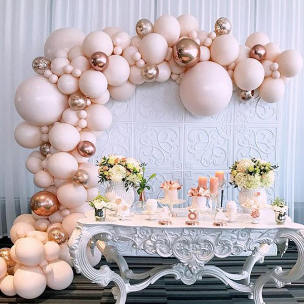 Blush Pink Balloon Pack for Birthday Party and Wedding Decoration