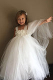 Ivory Flower Girl Tutu Dress Wedding Dress Pageant Dress Toddler Dress Tulle Dress