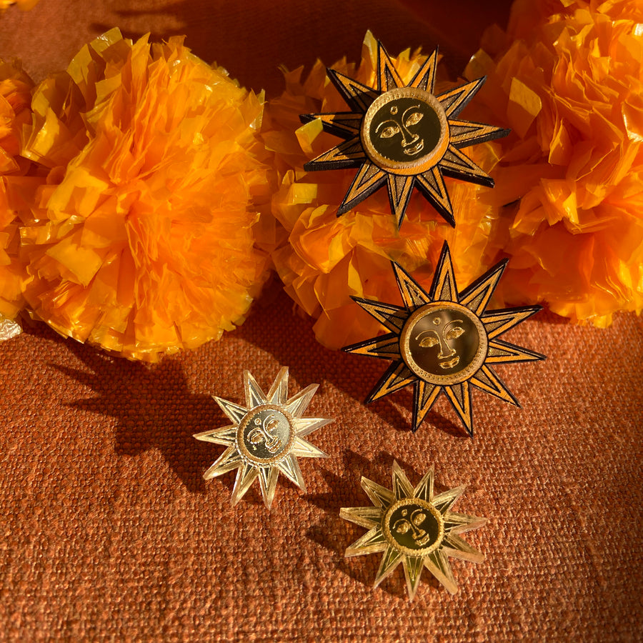 Sun Studs Small - Anisha Parmar London