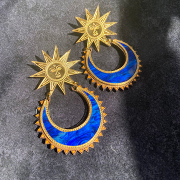 Sun Chand Earrings - Limited Edition New Moon Colour ways