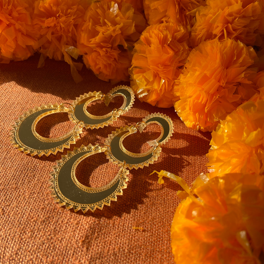 Layered Chand Earrings