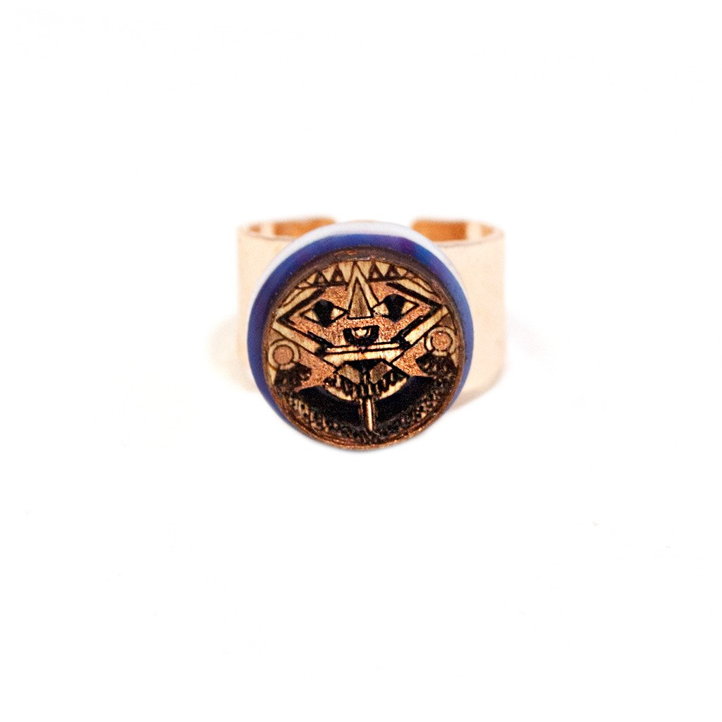 Indigo Eyes Ring Small