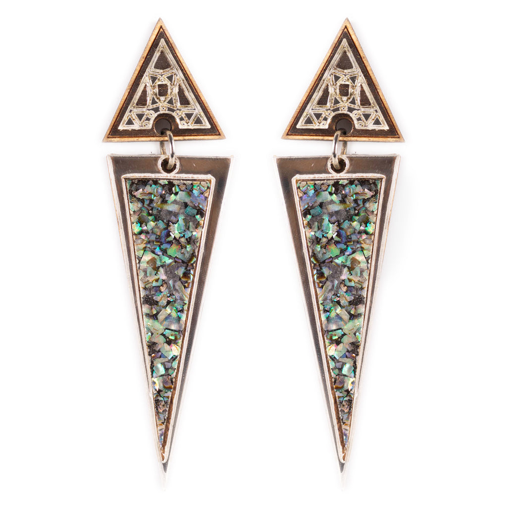 Long Trikon Earrings