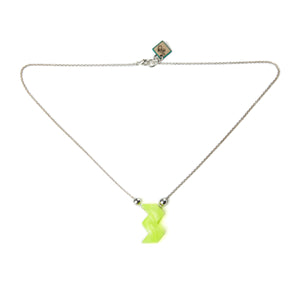 W Charm Necklace With Beads