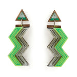 Zig Zag Drop Earrings Small
