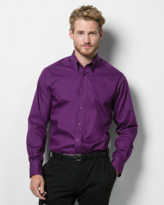 Men's Long Sleeve Tailored Fit Premium Oxford...