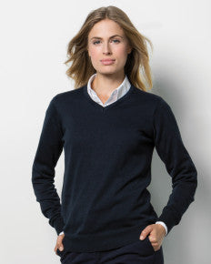 Ladies' Arundel Long Sleeve V Neck Sweater