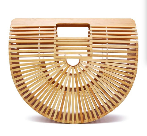 Bamboo Half-Moon Summer Vacation HandBag