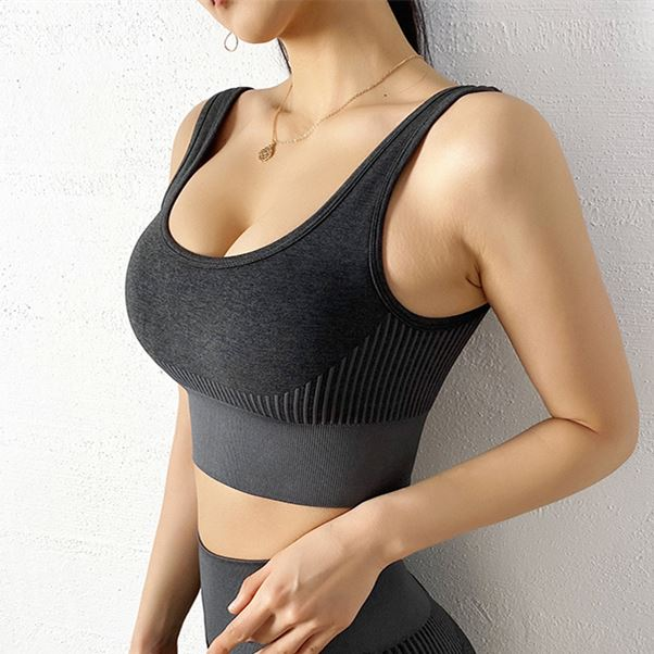 The NASCAR Racer Gradient Seamless Push-Up High-Waisted Scrunch Butt Yoga Gym Leggings & Sports Bra Yoga Pants hearuisavy Official Store Double Black Push Up Sports Bra S