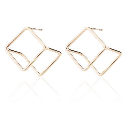 The 3D Ultra Contemporary Polygon Stud Earrings Collection Stud Earrings Cos Store Gold Square