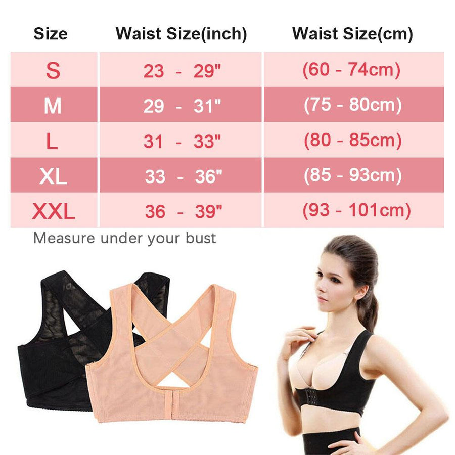 The Superwoman Chest Posture Corrector and Body Shaper Braces & Supports Genkent Official Store
