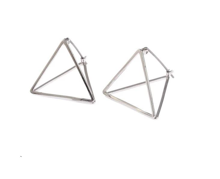 The 3D Ultra Contemporary Polygon Stud Earrings Collection Stud Earrings Cos Store Silver Triangle