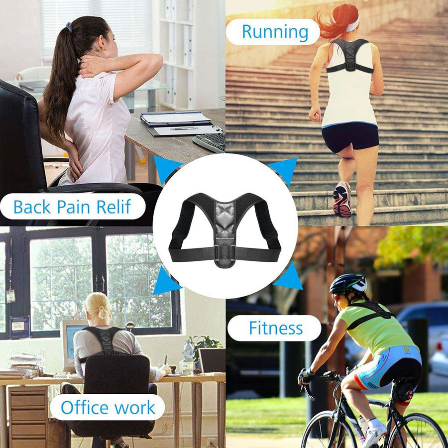 The SUPER AWESOME 2-WEEKS-1-HOUR-A-DAY Unisex Back Pain Remover and Posture Corrector Braces & Supports Aptoco Official Store