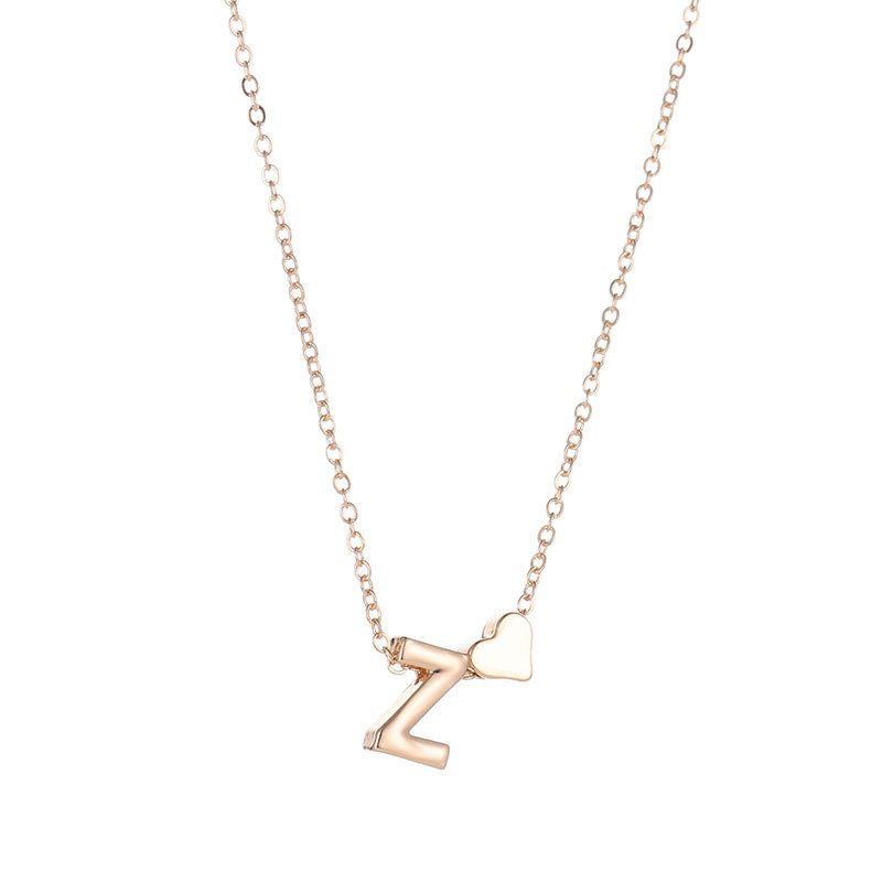 Necklace With Name Personalized Alphabet Letter Pendant Necklaces SUMENG Official Store