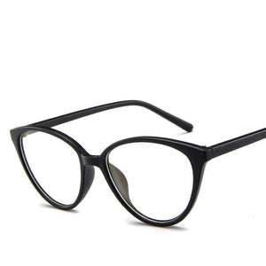The Transparent Flower Child Retro Cat Eyeglasses Frames Men's Eyewear Frames KOTTDO Official Store Sand Black