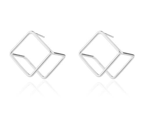 The 3D Ultra Contemporary Polygon Stud Earrings Collection Stud Earrings Cos Store Silver Square