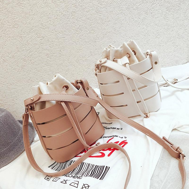 Hollow Bucket Shoulder Crossbody Bag Shoulder Bags ZLY Bag Store
