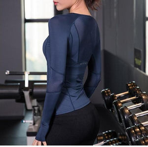 Train Like an Angel Long Sleeve Mesh Yoga Gym T-Shirt Yoga Shirts Swimbra Store