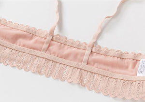 The Boho Chic Eyelet Lace Wireless Push Up Bralette Crop Top Bras DeRuiLaDy Official Store