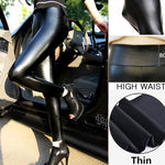 Slimming Skinny Leggings Leggings BIVIGAOS ZY Store High-Waisted Ultra Thin Leather S