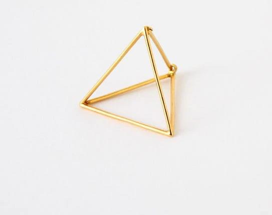 The 3D Ultra Contemporary Polygon Stud Earrings Collection Stud Earrings Cos Store Gold Triangle